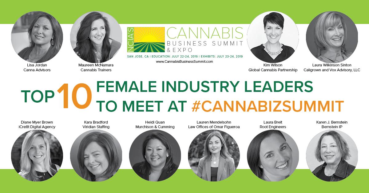 Top Ten Female Industry Leaders to Meet at #CannaBizSummit