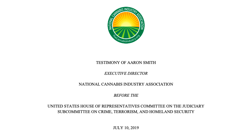 Testimony of Aaron Smith, Executive Director, NCIA, Before The U.S. House of Representatives Committee on the Judiciary Subcommittee on Crime, Terrorism, and Homeland Security