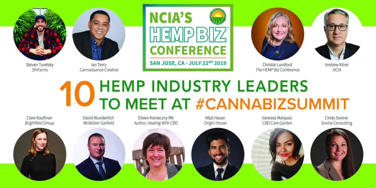 Ten Hemp Leaders to Meet at #CannaBizSummit