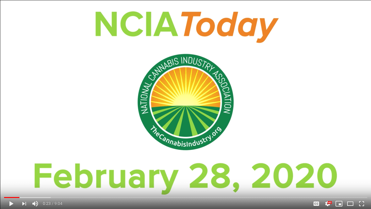 Video: Episode #2 of NCIA Today – #NECannaBizCon recap, Safe Vaping, Illicit Market Summit, and more!