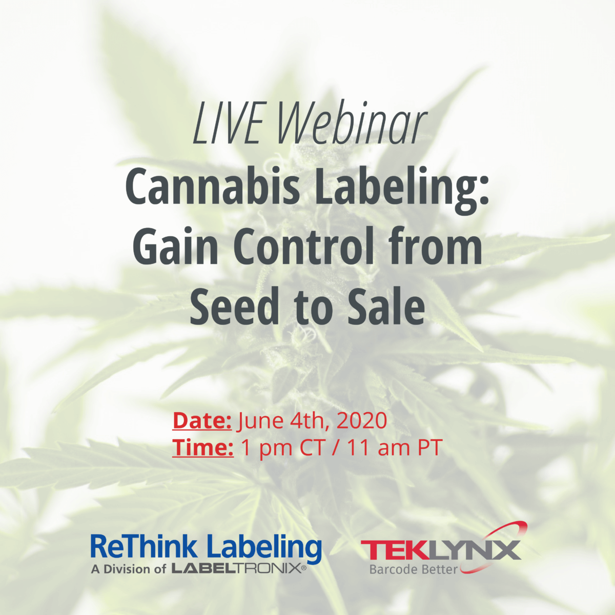 Cannabis Labeling Webinar to Explore Best Practices and Demo Solutions