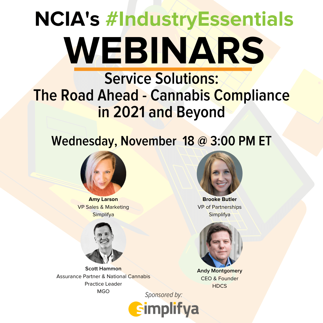 #IndustryEssentials Webinar Recording – Service Solutions: The Road Ahead – Cannabis Compliance in 2021 and Beyond